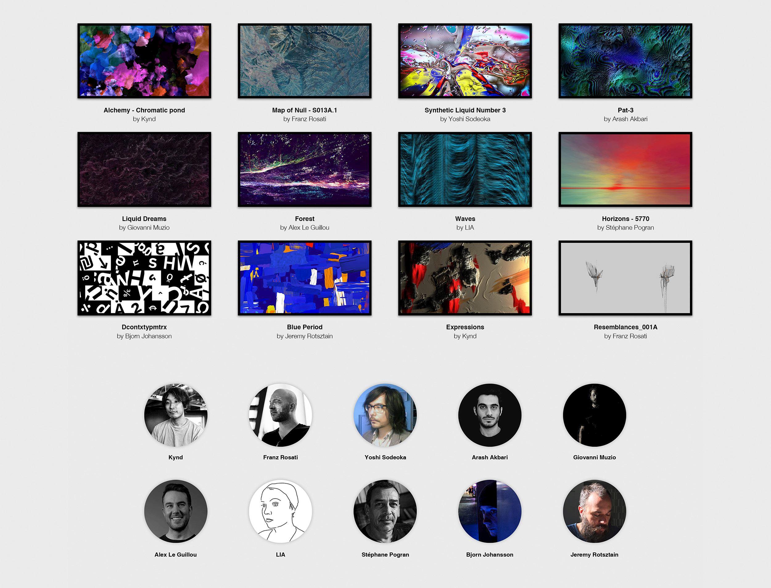 FRAMED - 12 unique artworks