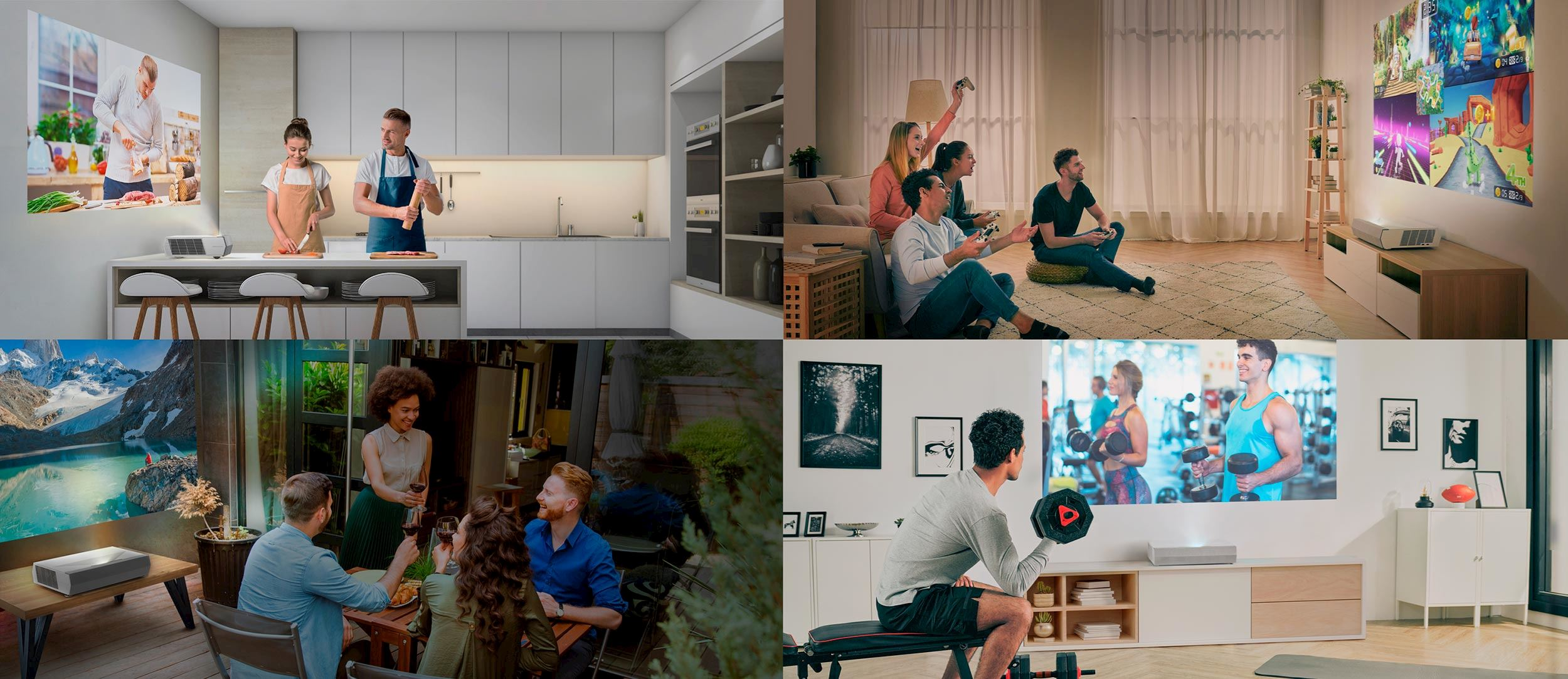 Big screen experience in any living space
